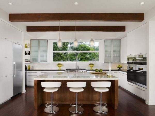 Interior Design Ideas Modern White Kitchen Wooden Cooking Island Custom Kitchen Design Images Inspiration Design