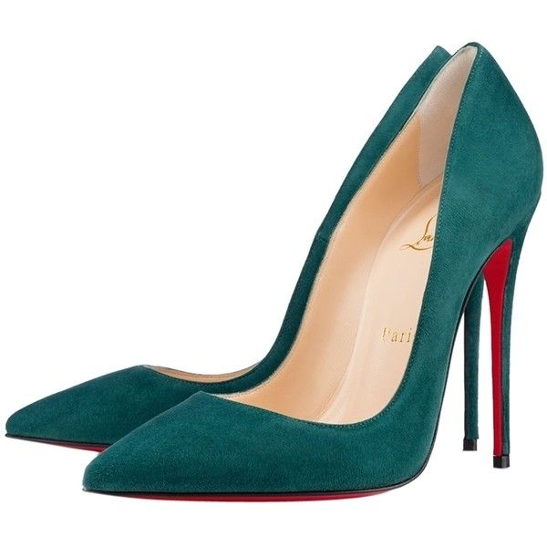 288adb945f4d Pre-owned Christian Louboutin So Kate Forest Green Pumps ( 637)   liked on Polyvore  featuring shoes