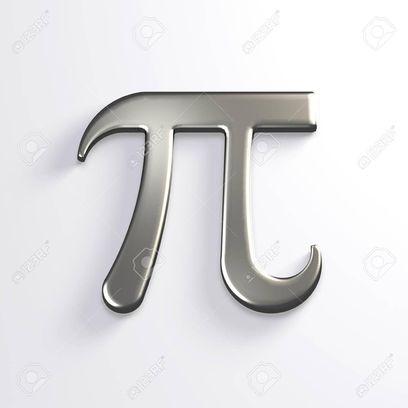 Pi Number Silver Mathematical Symbol 3d Render Illustration Royalty Free Images Symbols Illustration