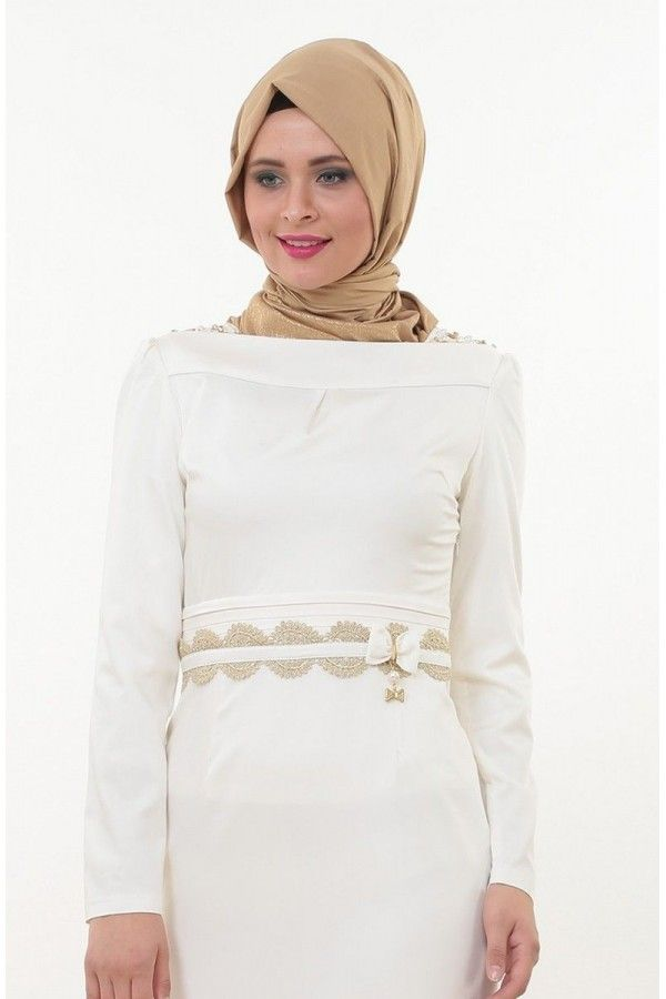 Tesettur Giyim Puane Kayik Yaka Kesimli Abiye Elbise 4109 12 16917 Modest Fashion Fashion Hijab Outfit