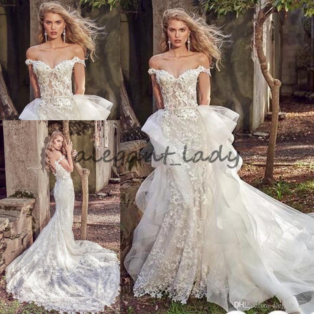 Eve of Milady 2018 Detachable Train Mermaid Wedding