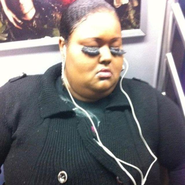 Girl on NYC subway