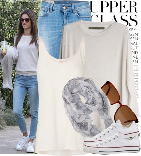 """""""Street Style: Alessandra Ambrosio"""" by drinaz ❤ liked on Polyvore"""