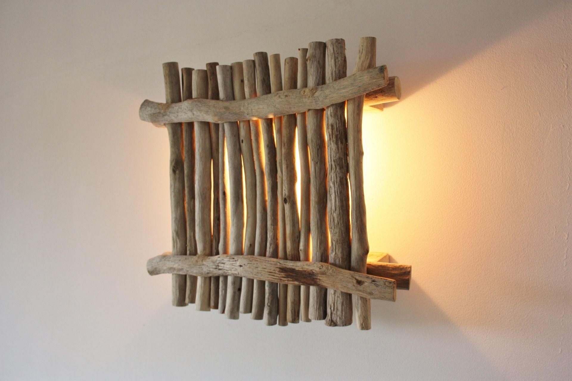 Applique bois flotté 100% récup : luminaires par latitude42 02