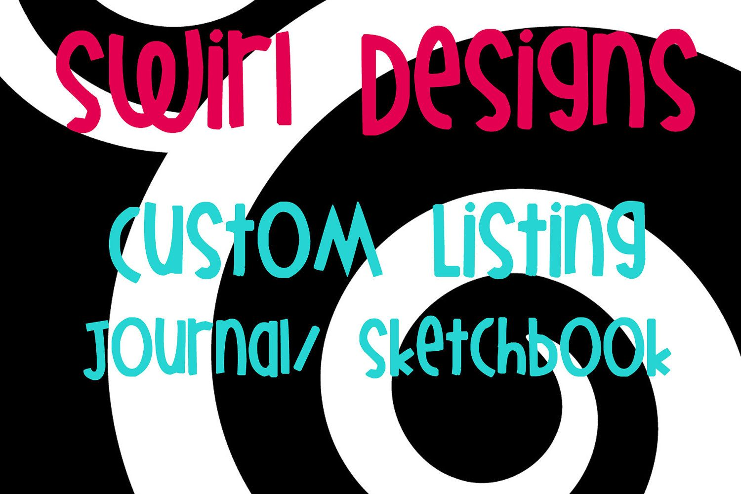 Custom+Listing+for+One+Journal/Sketchbook+by+SwirlDesigns2+on+Etsy,+$12.00