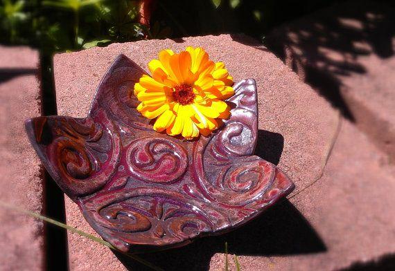 Rustic star saucer by Kuruku on Etsy, $15.00