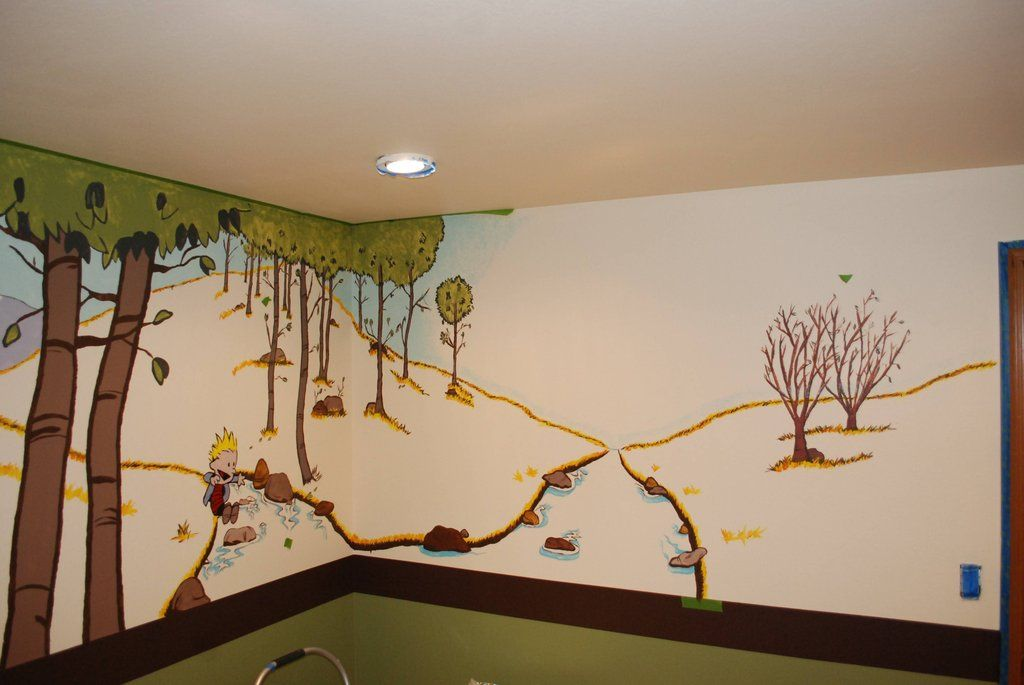 Calvin and hobbes nursery calvin and hobbes room for Calvin and hobbes kids room