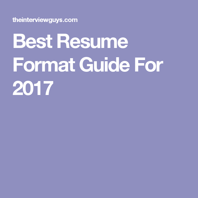 resume a format
