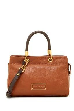 Rolled Handle Leather Satchel