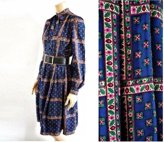 50s Vintage Silk Dress by bOmode on Etsy, $95.00
