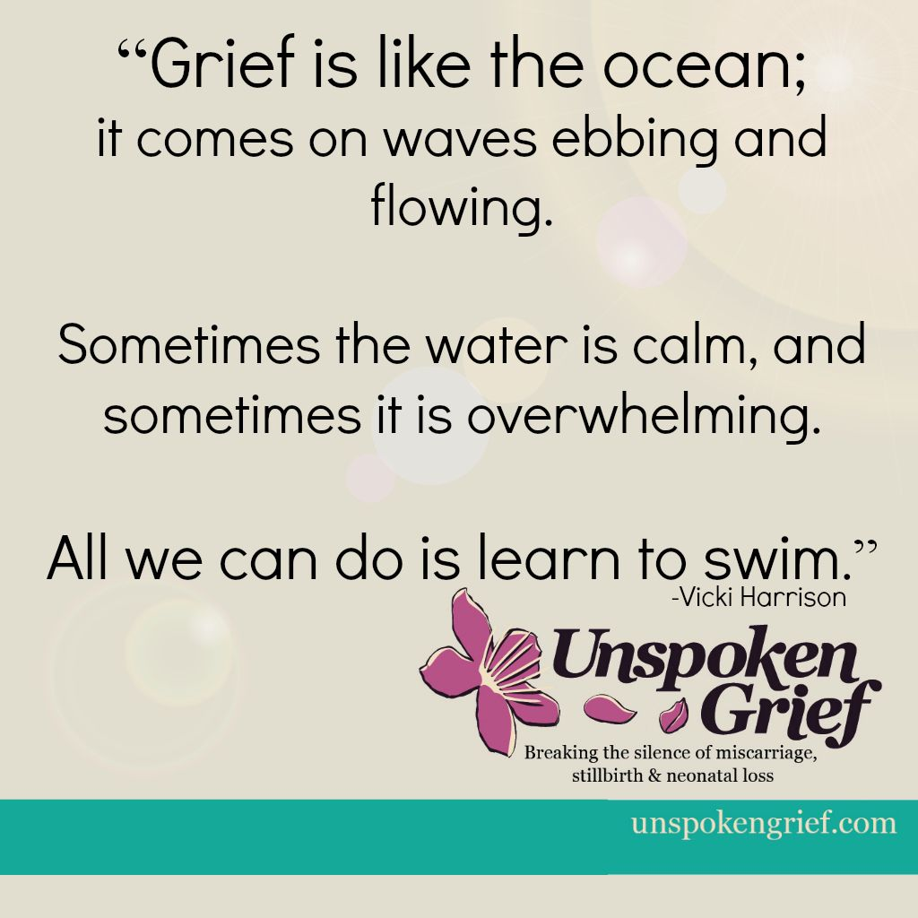 Grief Quote Grief Quote Grief Is Like The Ocean  Words And Resources For The