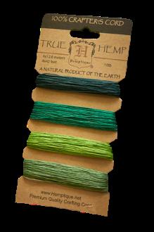 10 Lbs Hemp Cord Set Emerald 4X9.1 Meters