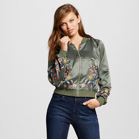 7cb7a6ce08b630529142d57da80dd276 women's bomber jacket olive l xhilaration™ (juniors') target,Target Womens Xhilaration Clothing