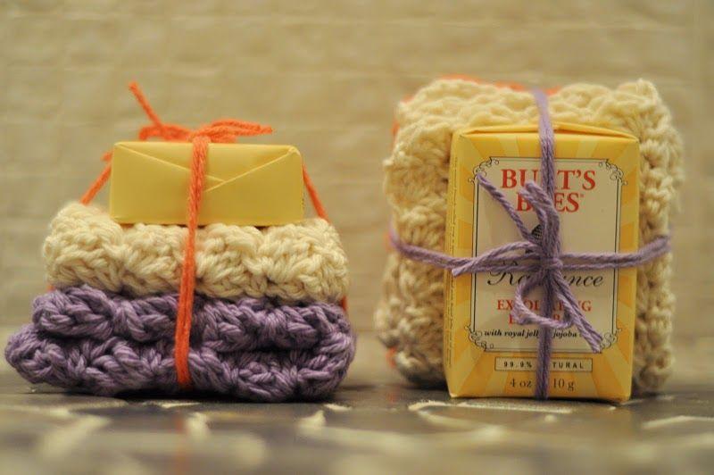 Toallas tejidas a ganchillo con jabón bonito: ¡gran idea para un regalo!