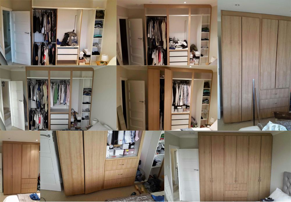 Fitted wardrobes I made for the house. Not painted yet though. Built with MDF Veneered 2 Sides board.