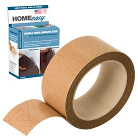 Homeeasy 1 875 In X 75 Ft Clear Double Sided Seam Tape Tape
