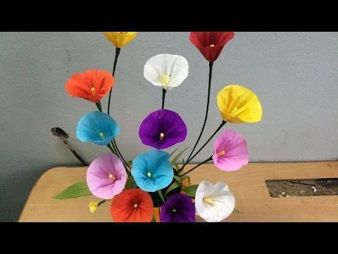 How to make easy tissue paper flowers youtube projects to try how to make easy tissue paper flowers youtube mightylinksfo