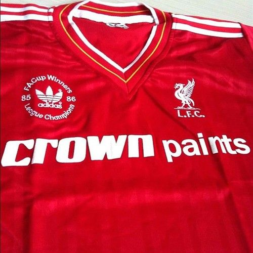 1985-86 Liverpool doubles winners Liverpool Fc Kit 7e1aeb0dd3177