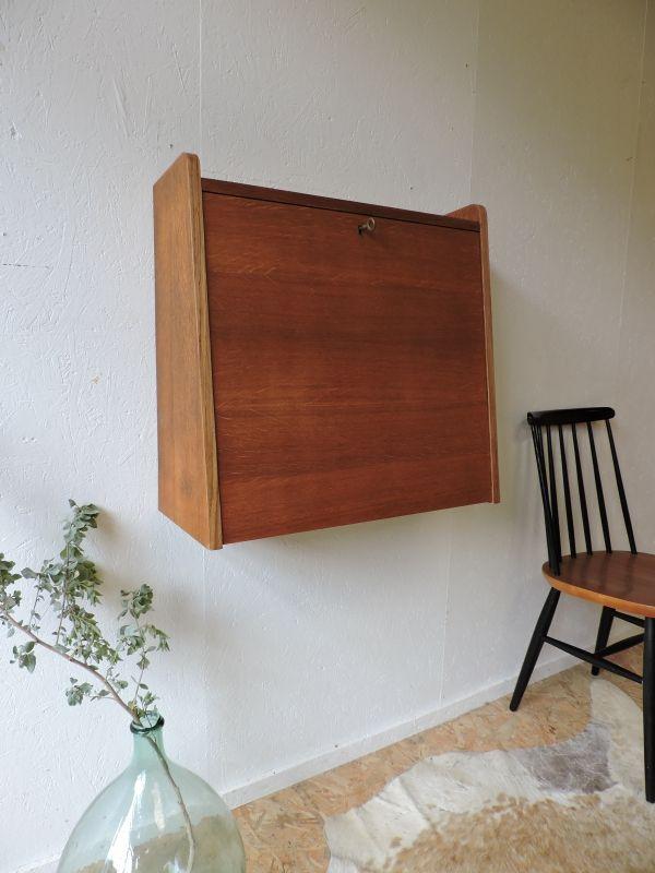 Vente Secretaire Mural Style Gascoin Annees 50 60 Achat Prix Deco Annee 50 Objet Deco Vintage Mobilier De Salon