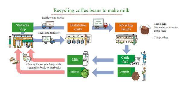 Starbucks Coffee Grounds Menicon Distribution Supply Chain