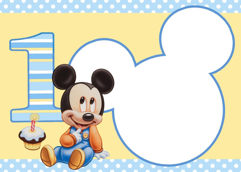 Invitaciones De Cumpleaños De Mickey Mouse En Hd Gratis Para Bajar ...
