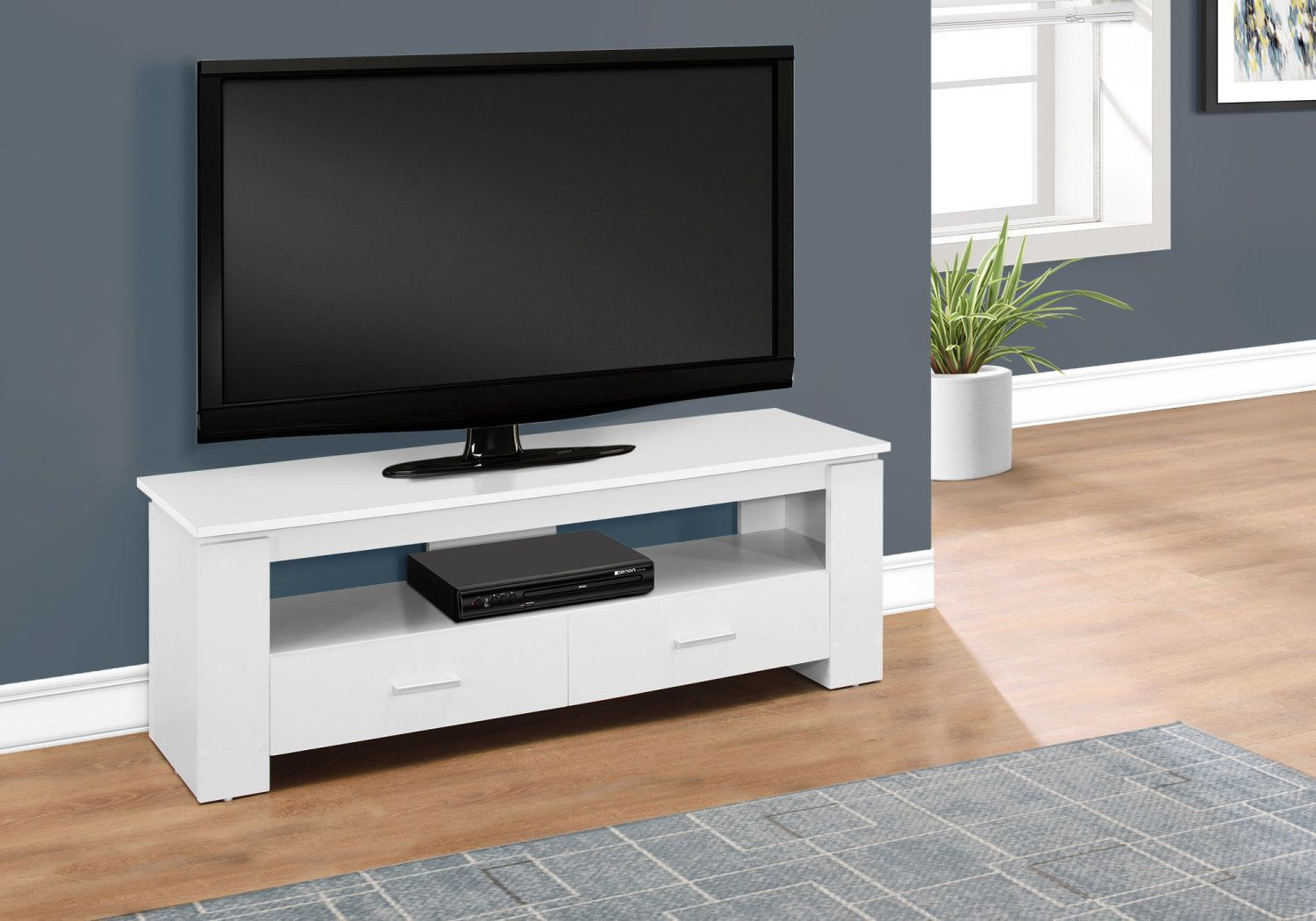 Meuble Tele Surplus Rd Contemporary Tv Stands Storage Drawers Monarch Specialties