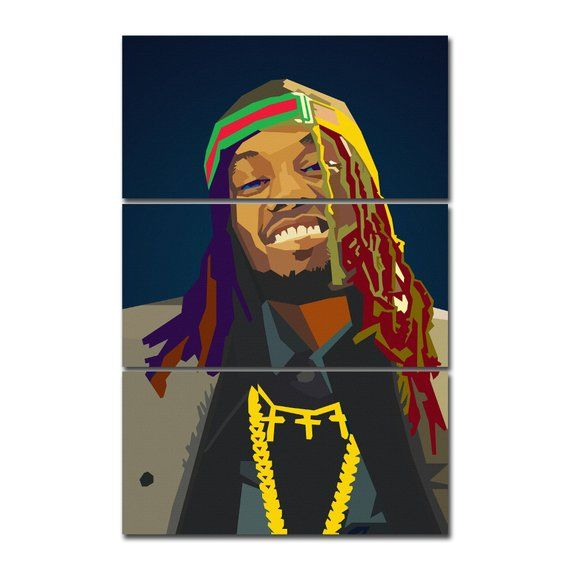 82726e310304 Offset Migos Rapper Canvas Giclee Print Painting Picture Wall Art ...
