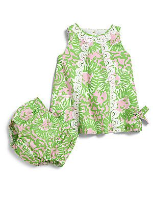 6589a0a97 Lilly Pulitzer Kids Infant's Two-Piece Lion Print Shift Dress & Bloomers Set  at Saks