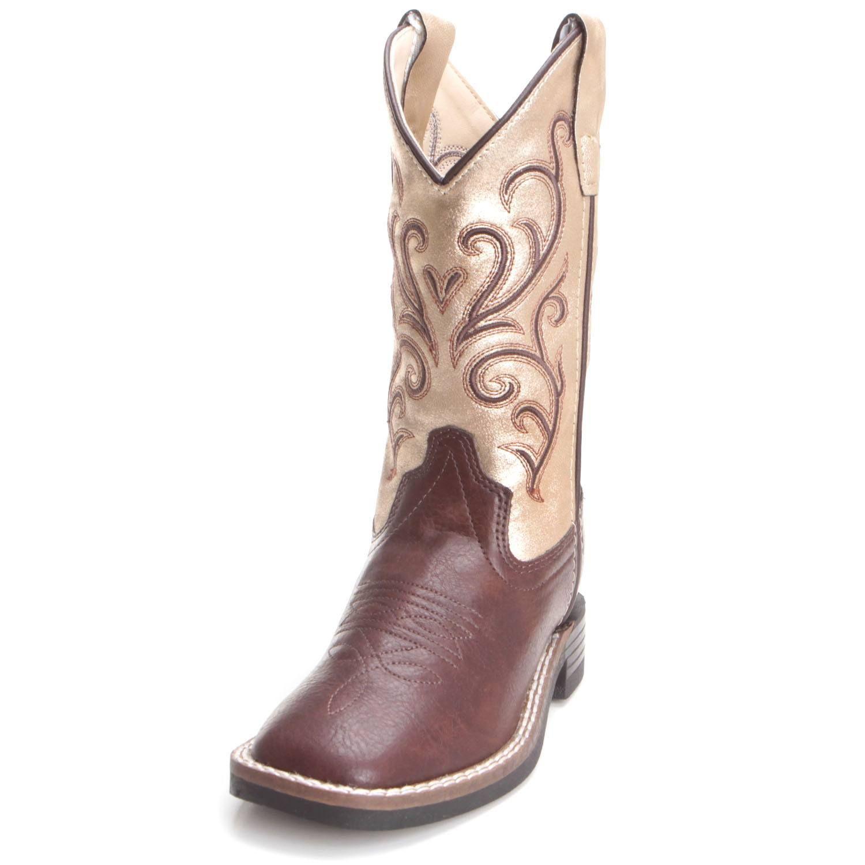 f957325d8b6f1 Old West Children Girls Cowboy Boots Gold VB9135 | Kids Cowboy Boots ...