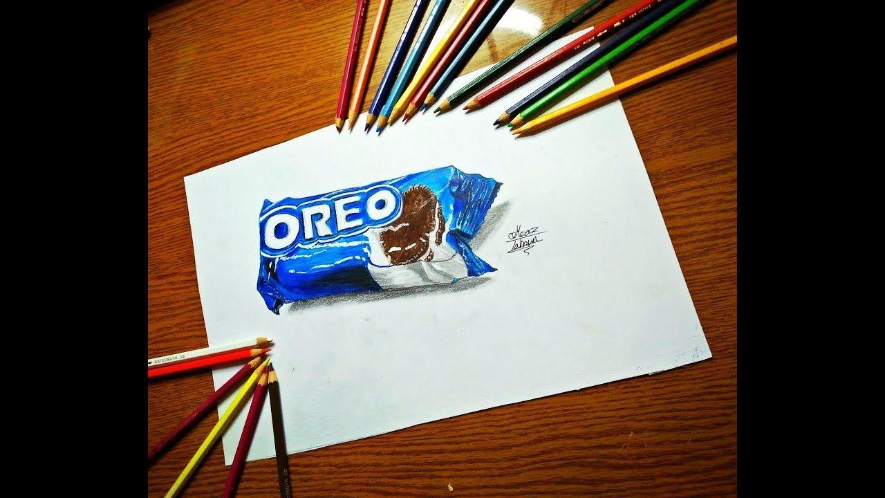 تعلم الرسم الثلاثي الابعاد Oreo رسم 3d خطوه خطوه Book Cover Art My Arts