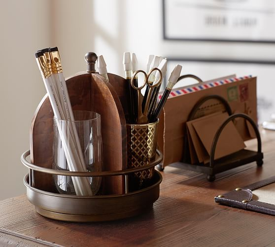 printers home office desk accessories potterybarn