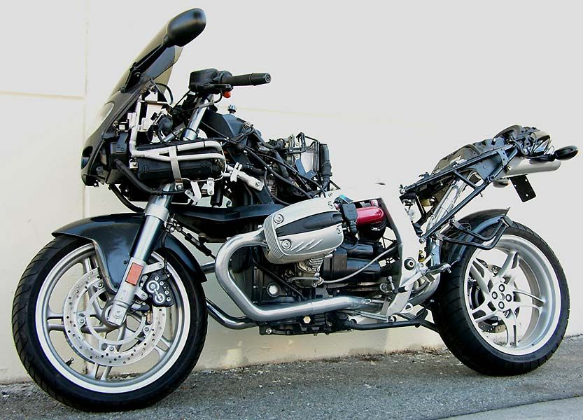 Bmw R1100s Fitted With Black Hole Manifolds Exhausts And