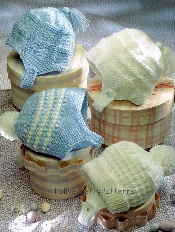 Instant Download - PDF Knitting Pattern - 4 Assorted Styles of Baby ...