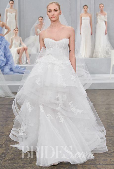 Monique Lhuillier - Spring 2015 | Bridal Beauty | Pinterest ...