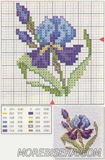 Цветочные схемы для вышивки - Цветы - Схемы плетения бисером - Сокровищница статей - Плетение бисером украшений, деревьев и цветов, схемы мк