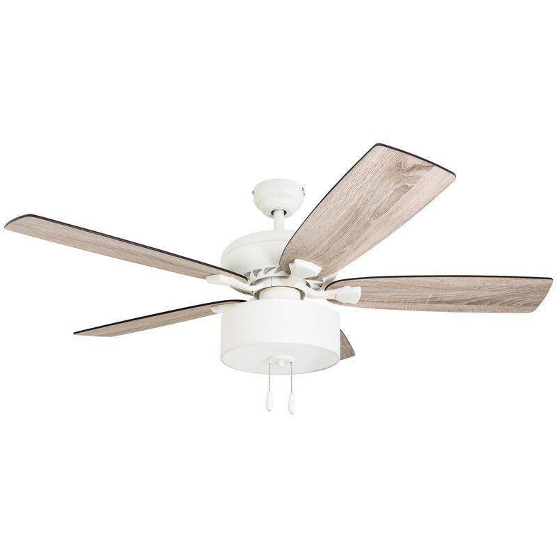 52 Verlene 5 Blade Standard Ceiling Fan With Light Kit Included In 2020 Ceiling Fan With Light Ceiling Fan Led Ceiling Fan