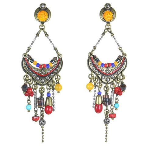 Ecuador Gypsy Post Earrings / Luxe Bohemian Jewellery by French Designer, Franck Herval available at www.seasonsemporium.com