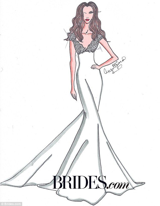 Kim kardashian wedding dresses sketches