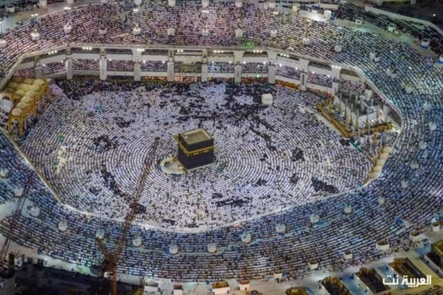 الكعبة المشرفة صور ترصد ليلة 27 رمضان في الحرم المكي من على ارتفاع 2500 قدم City Photo Photo City
