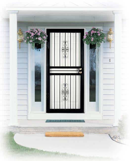 Larson Storm Doors Wrought Iron Steel Storm Doors Pinterest
