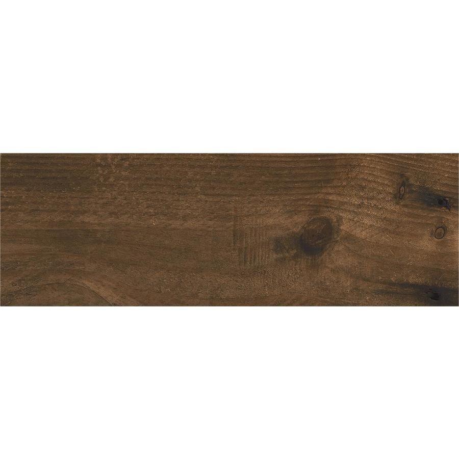 CERAMICAS TESANY Acadia brown Brown Matt Wood Look Ceramic Floor And ...