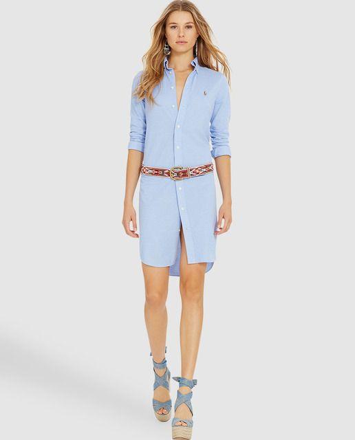 Vestido camisero de mujer Polo Ralph Lauren en azul  9884746a4f96d