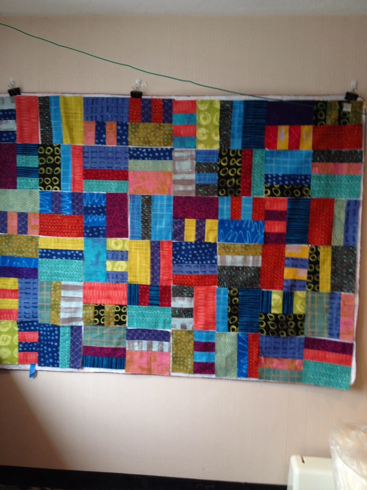 PugMom Quilts!: Bright quilt at Cape Cod quilt weekend, by Joan S.