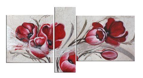 quadri moderni con fiori tulipani | Bordado a mano | Pinterest ...