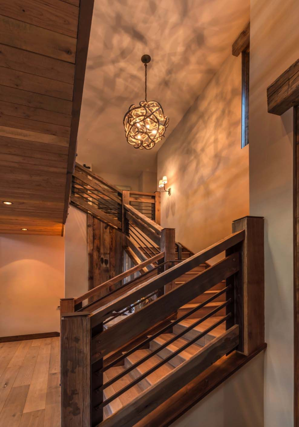 Rustic Mountian Stair Railings: Woodsy Mountain Cabin In Martis Camp Blends Modern With