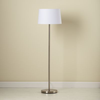 Light Years White Floor Shade And Nickel Base For The