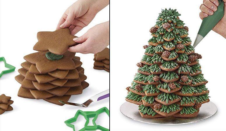 3D Christmas Tree Cookie Cutter Kit Christmas Pinterest