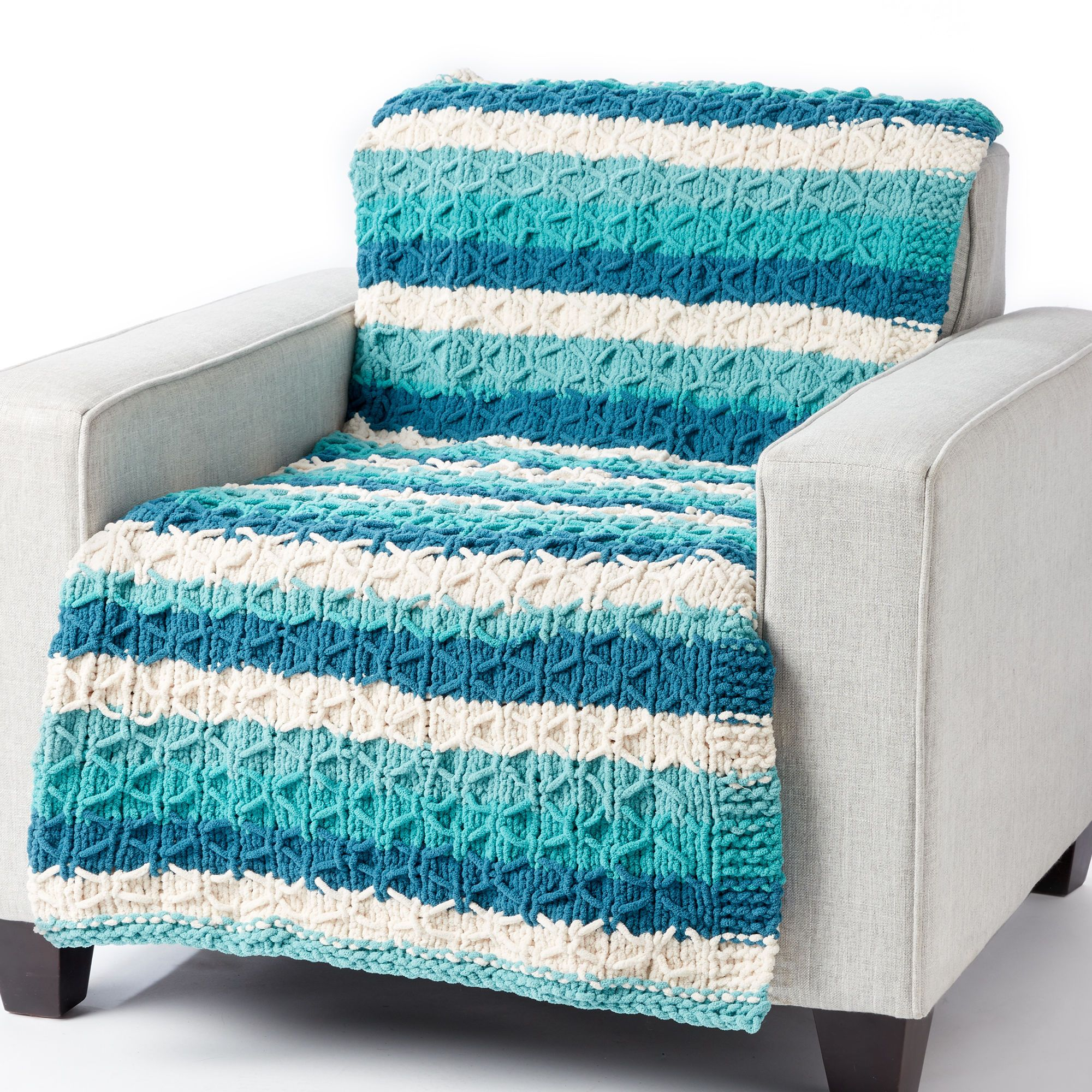 Bernat Knit Quilted Blanket | Yarnspirations | Baby ...