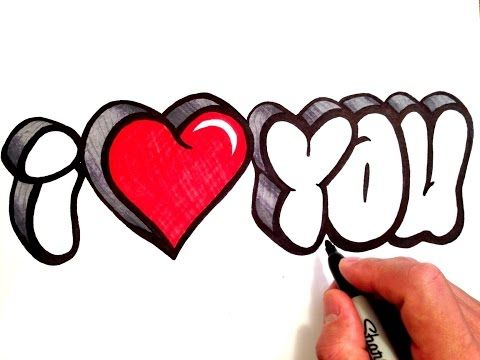 How To Draw I Love You In 3d Bubble Letters Youtube Stuff I