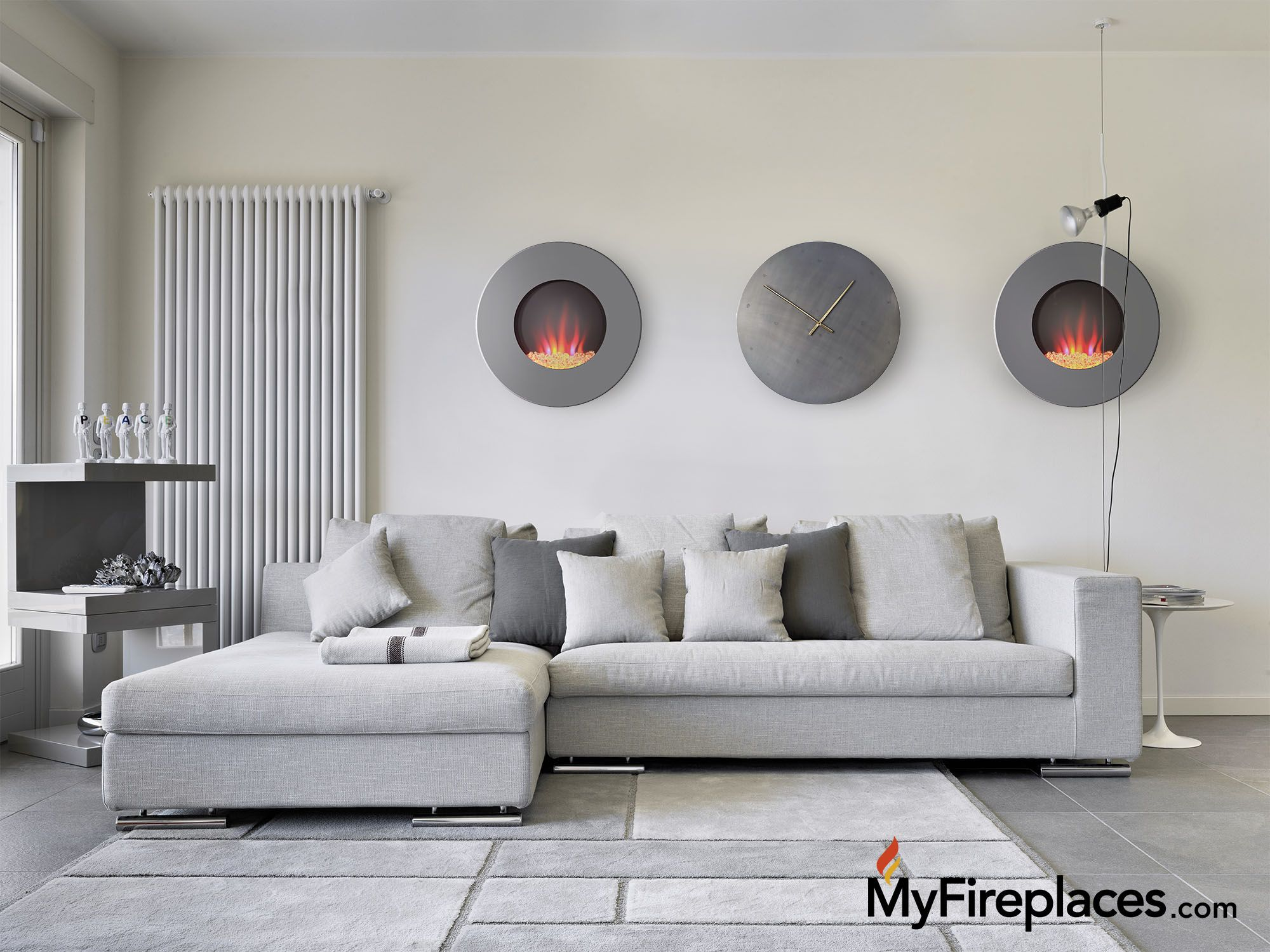 how to style the 23 round wall mount electric fireplace